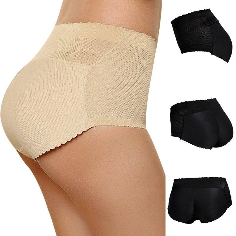 3f0e265b988ba Women Sponge Padded Abundant Buttocks Pants Lady Push Up Middle Waist Padded  Panties Briefs Underwear LM93-in Control Panties from Underwear    Sleepwears on ...