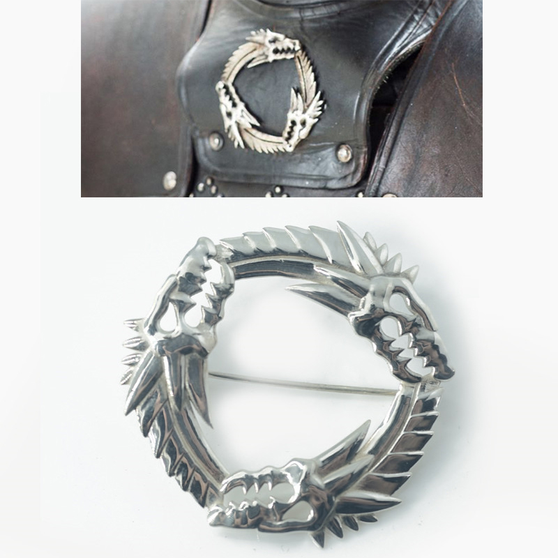 Customize Game of Thrones Unsullied Grey Worm Brooch Cosplay Accessories Dragon Badge 925 Silver Targaryen Souvenir Brooch GiftCustomize Game of Thrones Unsullied Grey Worm Brooch Cosplay Accessories Dragon Badge 925 Silver Targaryen Souvenir Brooch Gift