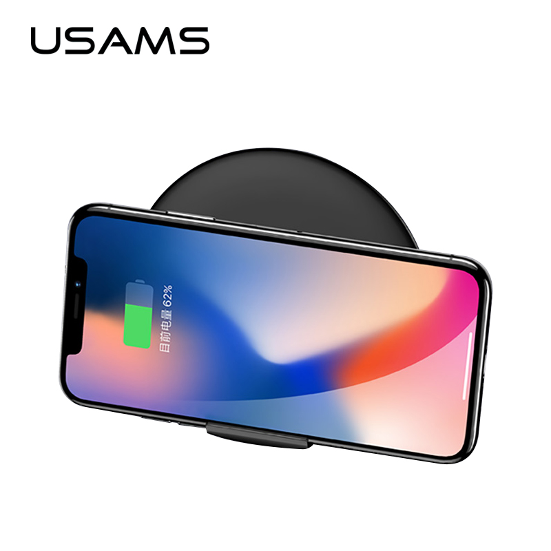 USAMS 2 in 1 <font><b>Vertical</b></font> Phone Holder Supine Fast <font><b>Wireless</b></font> <font><b>Charger</b></font> Qi <font><b>Wireless</b></font> charging For iPhone X 8 8 Plus Samsung S8/S8+/S7