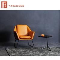 Modern style single in pelle sedia per soggiorno
