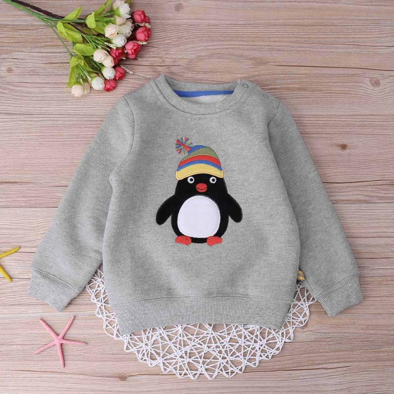 Winter Warm Boys Clothing kids Cotton Sweatshirt O-Neck Thicken Korean Cartoon Pullover Sweatershirt Children Clothing