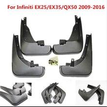 4Pcs For Infiniti EX25/EX35/QX50 Black Front Rear Molded Car Mud Flaps Splash Guards Mudguard Mudflaps Fenders