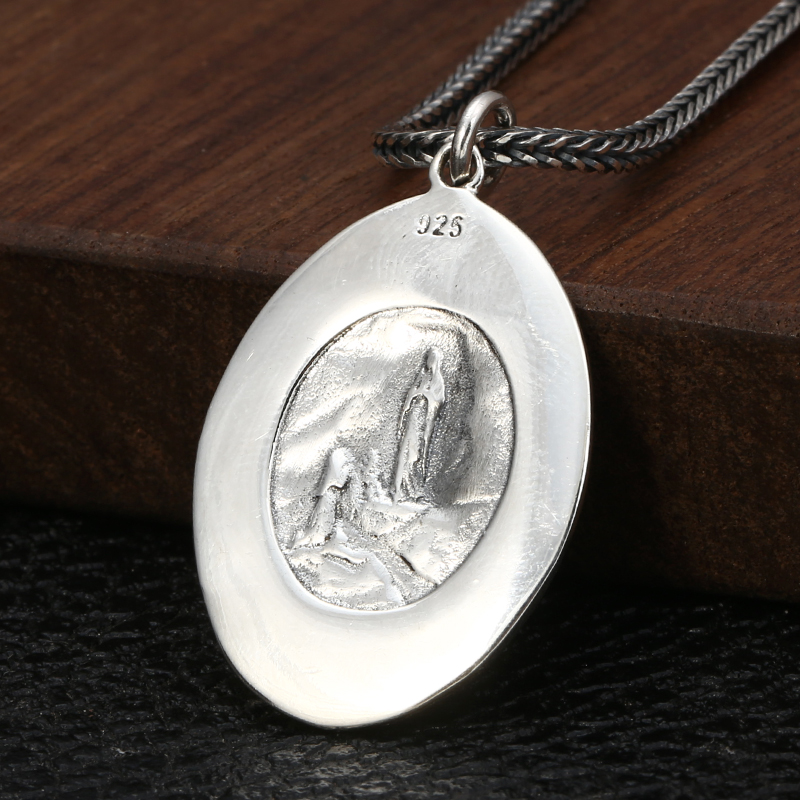 Image 4 - 2019 Creative Virgin Mary Portrait Pendant 100% 925 Sterling  Silver Men Women Necklace Pendant fine Jewelry sieraden maken  P36Pendants
