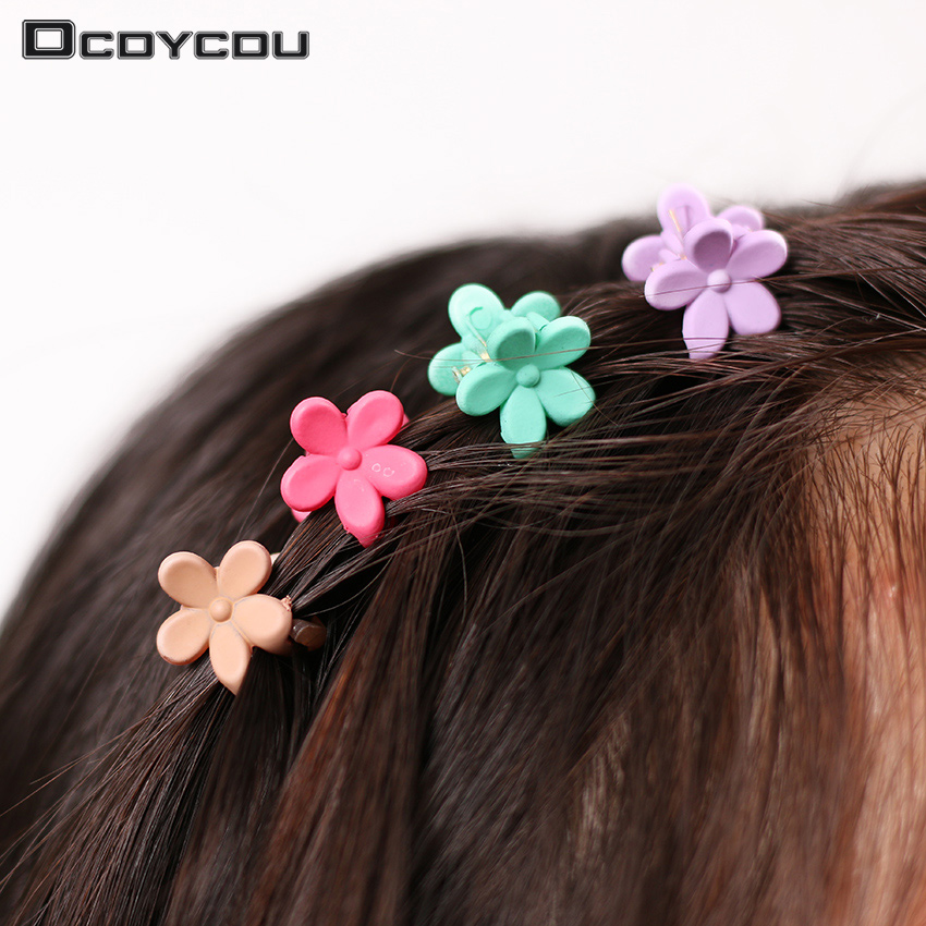 3 5 Black Flower Hair Clip With Flower Center: 40 Pcs Fashion Hair Accessories Hairpins Small Flowers