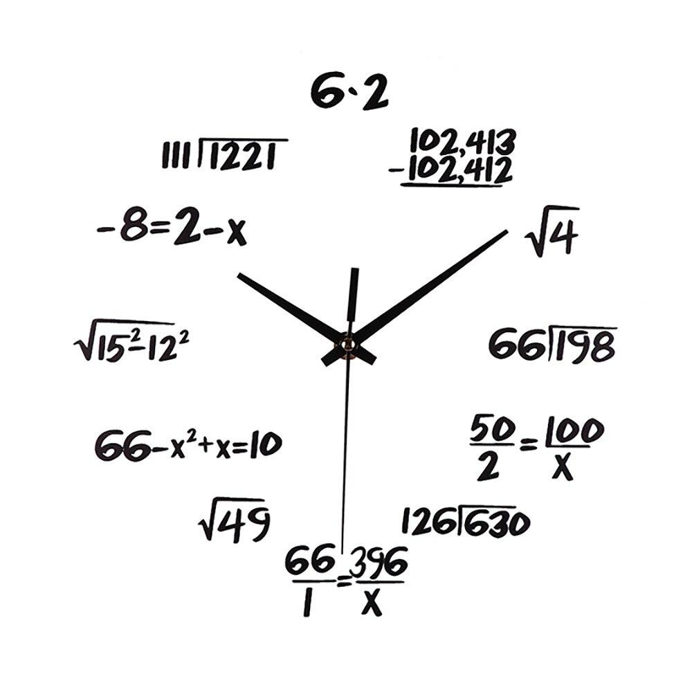 Silent Math Equations Polytechnic Digital Wall Clock Radio Alarm Clock Clock With Time Projection Alarm Retro