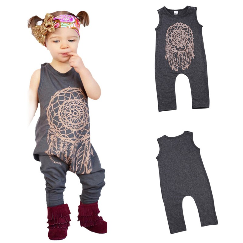 Children Clothing Set Cute Toddler Baby Girls Boys Totem Print Romper Jumpsuit Children Outfits 2016 Kids Clothes baby girl 1st birthday outfits short sleeve infant clothing sets lace romper dress headband shoe toddler tutu set baby s clothes