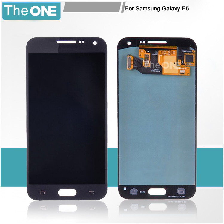 100% Tested LCD for Samsung Galaxy E5 E500 LCD Display Digitizer Touch Screen Assembly Black/White Color Replacement Parts brand new tested lcd display touch screen digitizer assembly for samaung galaxy e5 e500f h hq m f h ds replacement parts