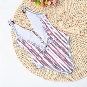 Image 4 - 2020 Sexy One Piece Swimsuit Women Bandage Swimwear Padded Monokini Push Up Bathing Suits Beach Wear Swimming Suit For Women XL