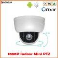 """2.5 """"Mini Câmera PTZ IP Velocidade Média 3X Lente Zoom 1080 P Full HD 2MP P2P Onvif 15 m Infravermelho de Visão Noturna Interior cúpula"""