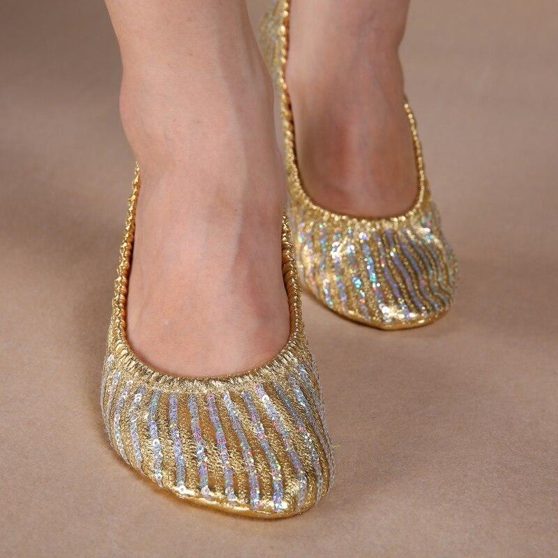 Women Girl Canvas Belly Dance Shoes Slipper Flat Ballet Gymnastics Dancing Shoes