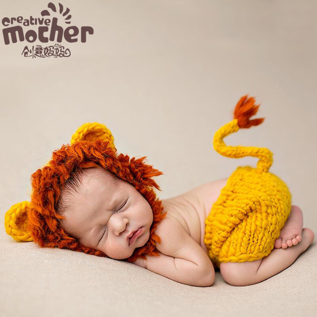 Crochet Newborn Photography Props Infant Costume Outfit Cute Baby Hat Costume Set Animal Lion Lady Bug  sc 1 st  AliExpress.com & Crochet Newborn Photography Props Infant Costume Outfit Cute Baby ...