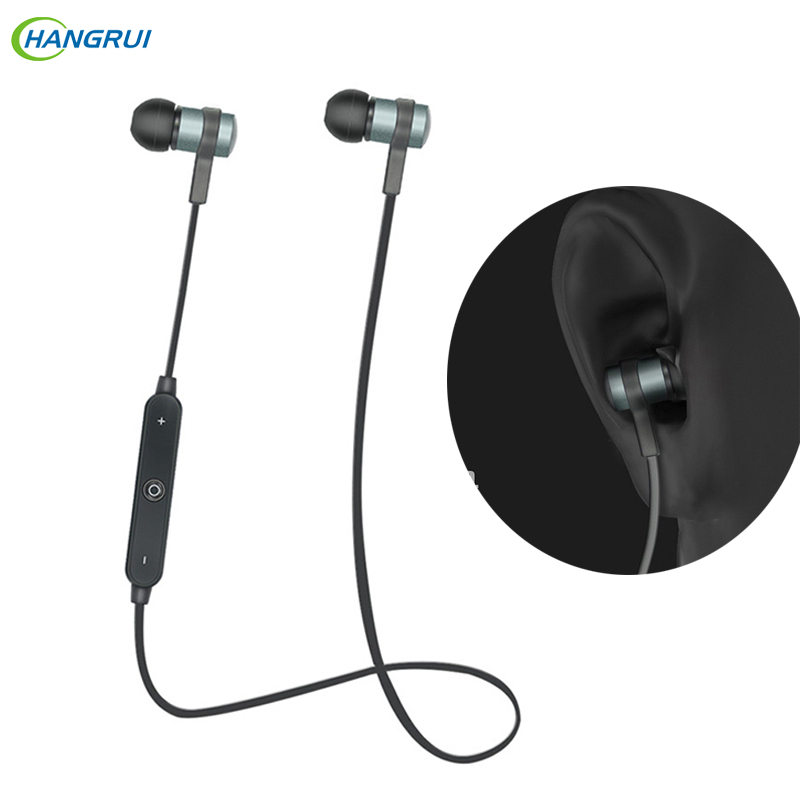 HANGRUI Newest S6-1 Wireless Bluetooth earphone V4.1 Sports Metal Bass Headset Headphones With Microphone For xiaomi smartphones