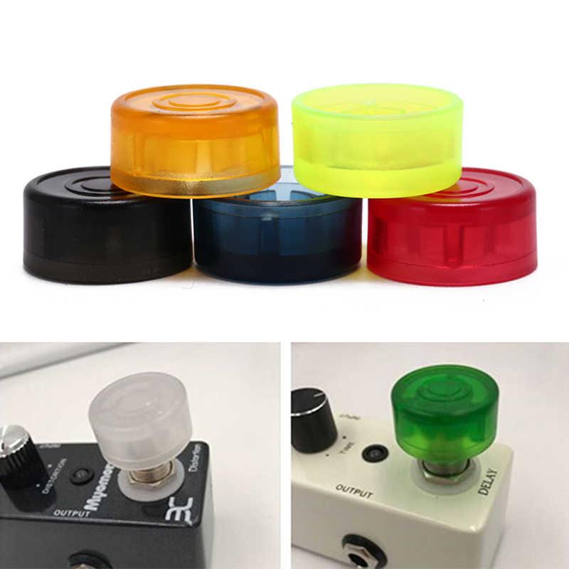 5 قطع مزيج Footswitch توبر الحلوى الملونة البلاستيك مصدات Footswitch حامي للغيتار تأثير دواسة 2.3 سنتيمتر x 1.2 سنتيمتر