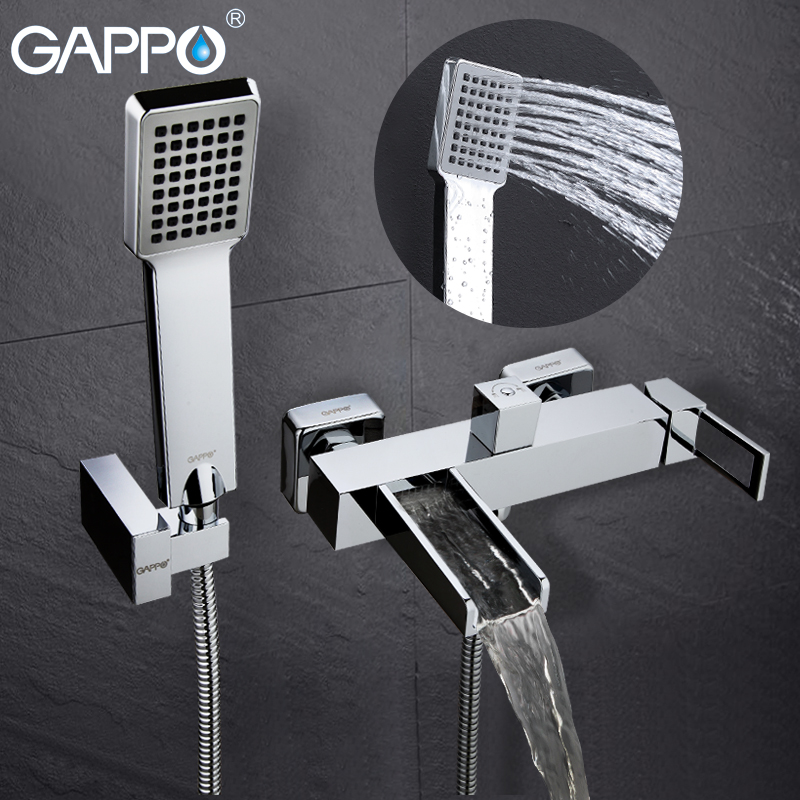 GAPPO Badewanne Wasserhahn badewanne armaturen wasserfall bad wasserhahn bad dusche wasserhahn badewanne wand montiert Messing bad mischer dusche