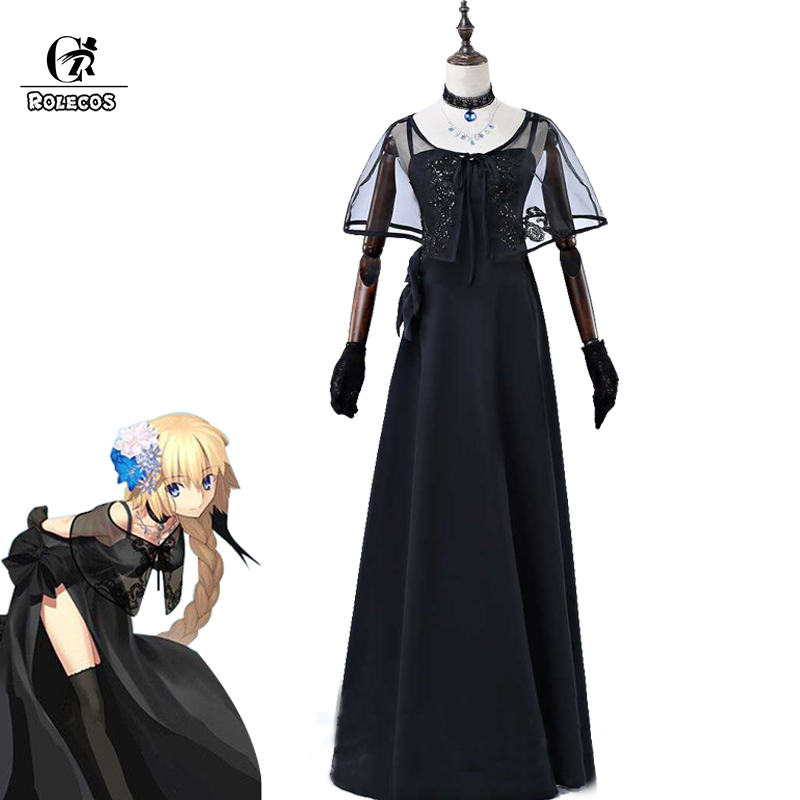ROLECOS FGO Fate Jeanne d'Arc Cosplay Costumes Fate Grand Order Cosplay Costume Women Wedding Evening Dress for Party Full Sets