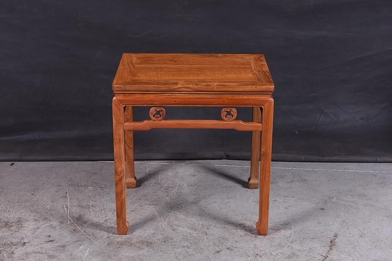 1+ 3 сиденья 6 шт. тройной набор стульев китай Королевский палисандр мебель гостиная твердой древесины диван-кровать костюм красный из сандалового дерева чайная столик - Цвет: Small Tea Table