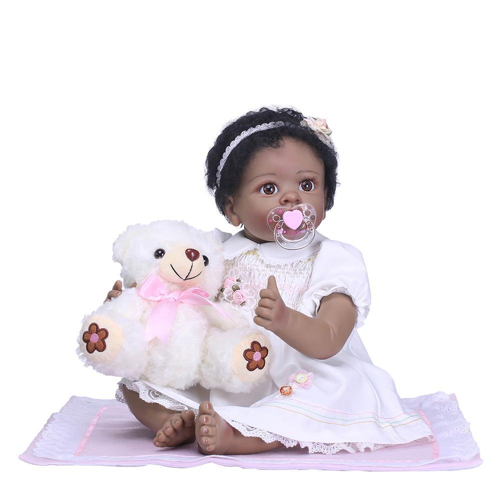 New Handmade Lifelike Reborn Doll Baby Imitation Vinyl Silicone Toy with Mini Dress New Handmade Lifelike Reborn Doll Baby Imitation Vinyl Silicone Toy with Mini Dress