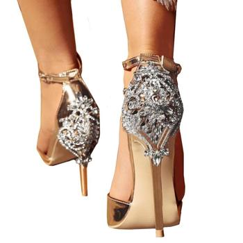 mokingtop shoes woman sandals SUMMER Fashion Luxury Diamond High Heel Womens Sandals Party Wedding Heels sandal heels ## sandal