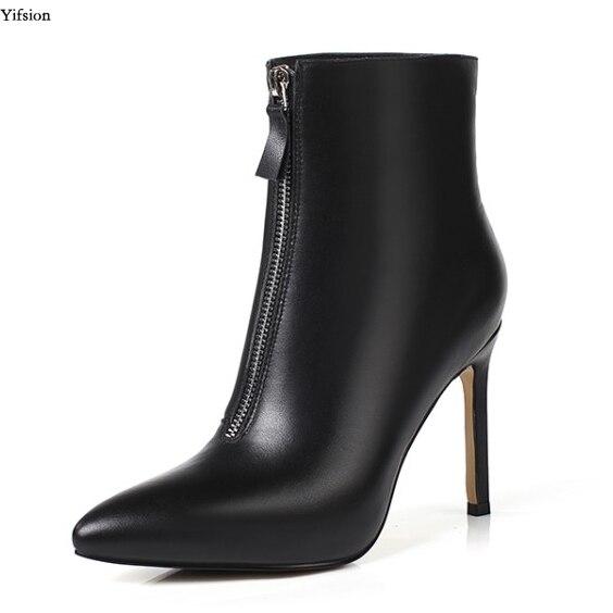 e2c543356 Tamaño D0632 d0632 Black Alto Blanco Yifsion 3 Negro Botas Mujeres Zapatos  Tobillo Estrecha White Mujer 5 Tacón ...