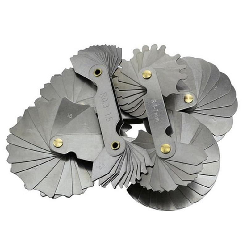 4vnt. Spindulio matuokliai R0.3-1.5 R1-7 R7.5-15 R15.5-25 Nerūdijančio plieno įgaubtas išgaubtas lankas Matavimo įrankiai