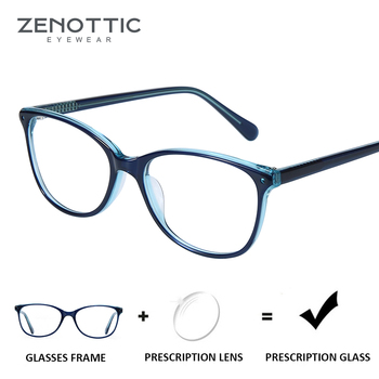 802f1be283 Gafas de prescripción de acetato azul ZENOTTIC para mujeres anti-rayos  azules gafas de miopía