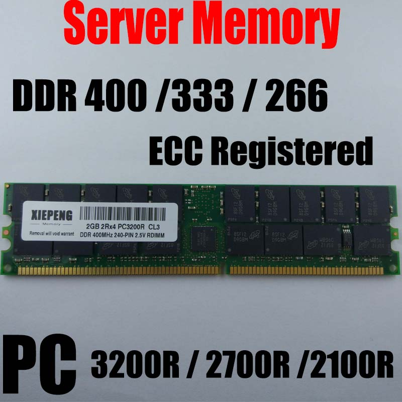 for <font><b>HP</b></font> Workstation RP4440 ZX2000 xw6000 xw8000 xw9300 <font><b>RAM</b></font> 2GB DDR 400MHz PC2100 ECC REG <font><b>4GB</b></font> PC2700R 333 PC3200 Registered Memory image