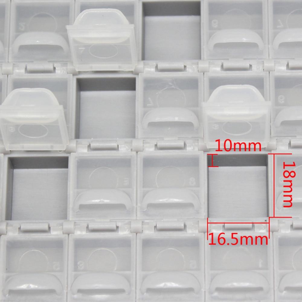 AideTek резистор SMT smd коробка для хранения корпус 1206 0805 72 отсека электронные ящики и органайзеры пластиковые коробки 72