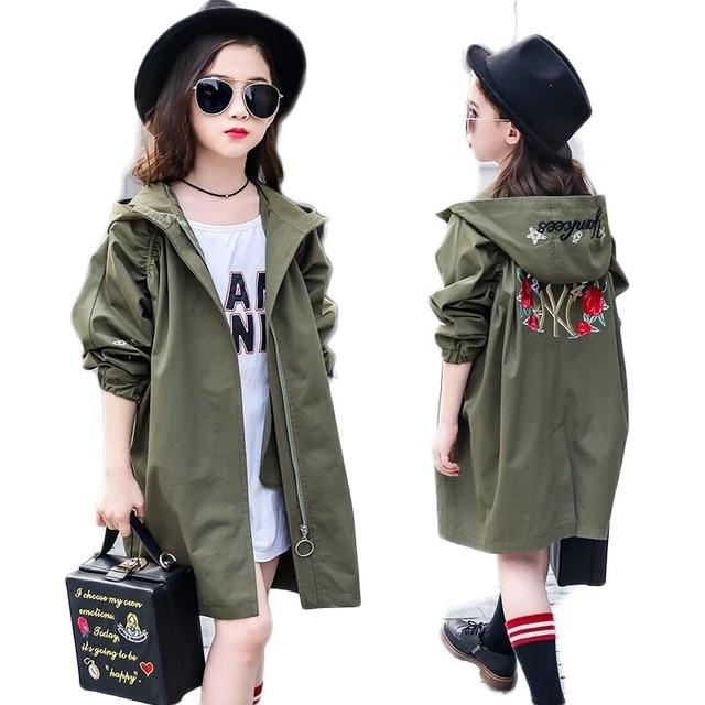 5d42eb74a 2018 Autumn Winter Girls Warm Trench Coats Children Clothing Girls ...