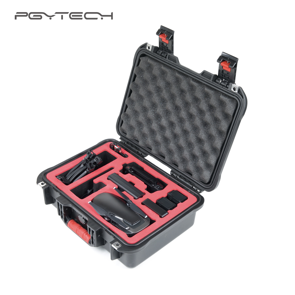 PGYTECH safety carrying case box for DJI Mavic Air Waterproof Hard EVA foam Carrying Bag Mavic Air Drone Accessories 2017waterproof hardshell handbag carry box pouch cover bag case for dji spark quadcopter drone 2 batteries and other accessories