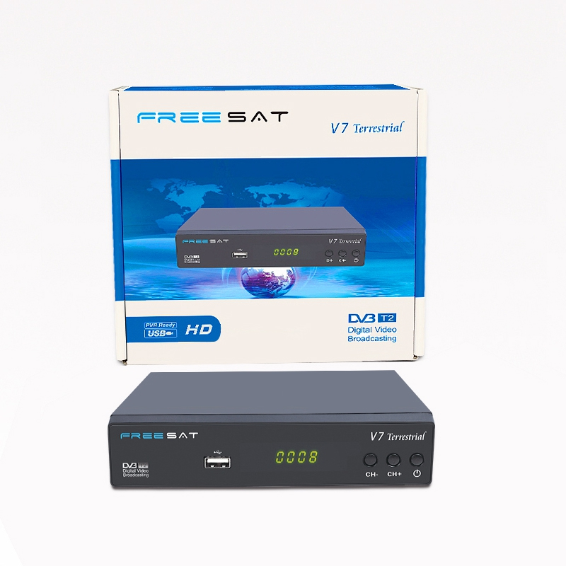 DVB T2 Satellite Receiver Freesat V7 Terrestrial HD DVB-T2 DVB-T/T2 TV Digital Terrestrial Receptor Full 1080P HD set top box