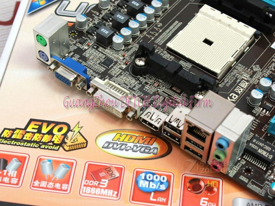 UA55MT solid-state EVO FM1 DDR3 integrated small solid-state plate A55 motherboard