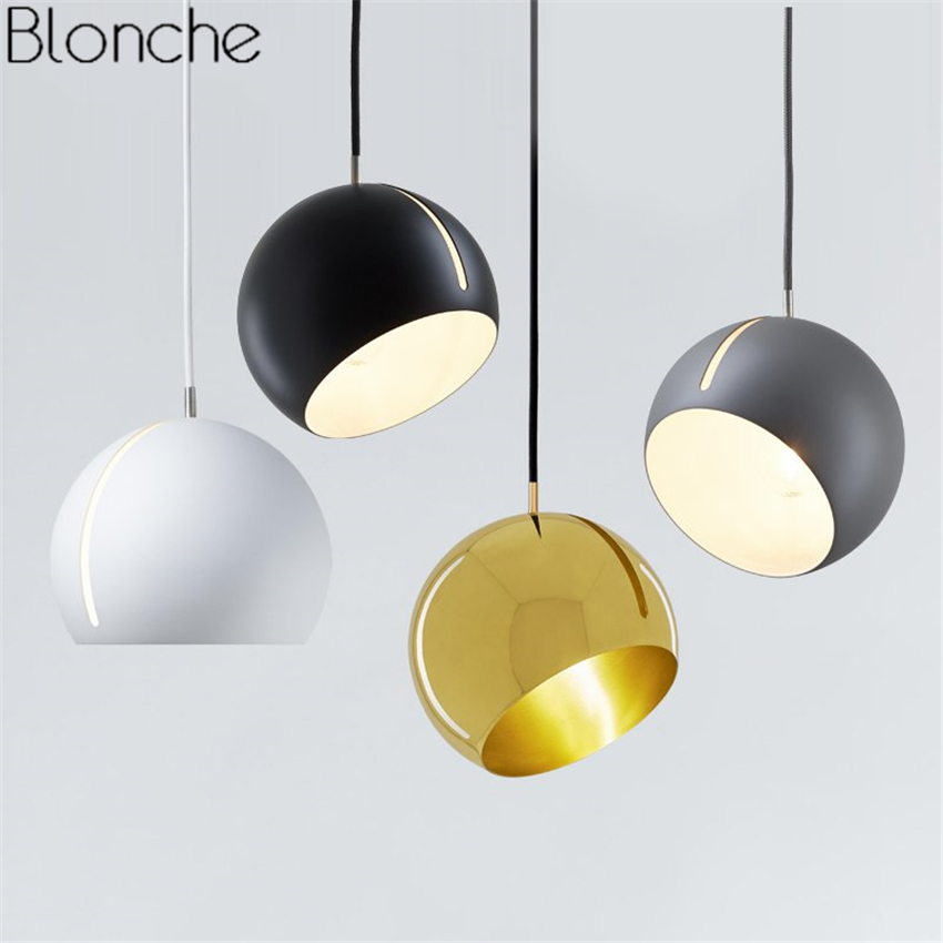 Nordic Ball Pendant Lights Led Hanging Lamp Modern Rotatable Loft Hanglamp for Dining Room Kitchen Home Fixtures Decor Luminaire loft nordic vintage industrial decor black hanglamp hanging design fixtures lamp pendant lights for dining room kitchen lighting