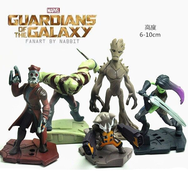 5pcs/set 6-10cm Groot Tree Man Mask Star Lord Funko Pop Guardians of the Galaxy Action Figure Collection Toys new funko pop guardians of the galaxy tree people groot