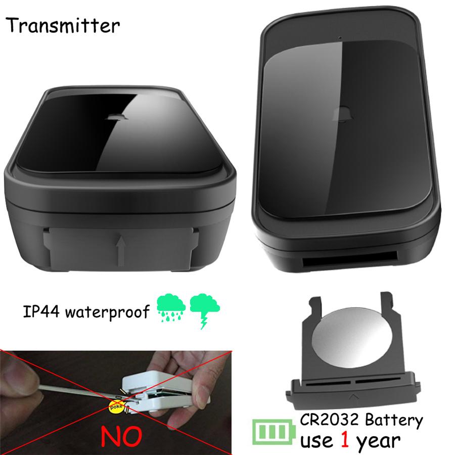 SMATRUL NEW Wireless doorbell NO BATTERY self powered waterproof LED light 51 Music 150M Remote smart Door bell chime EU Plug AC 110-220V 1 Button 2 receiver 1