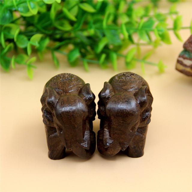 Elephant Wooden Souvenir Figurines Set