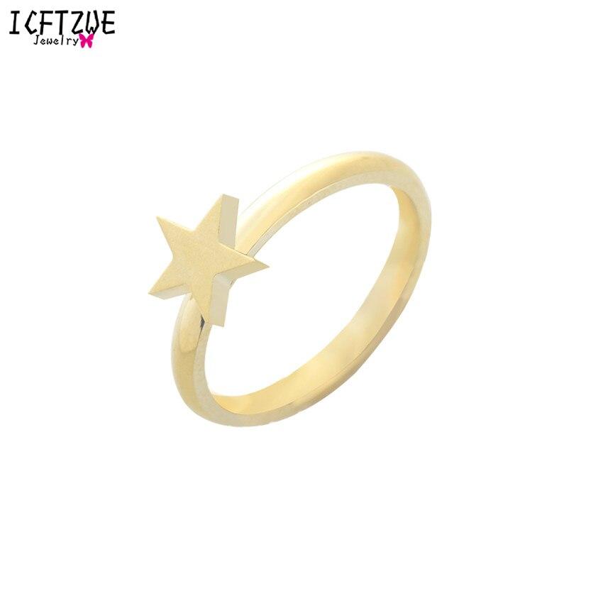 6b2bbdc47 Fábrica de Atacado 10 pcs Anel Do Vintage Jóias Promessa Anéis de Ouro Cor  Prata Bonito Estrela Anel Midi para As Mulheres em Ouro Rosa anel