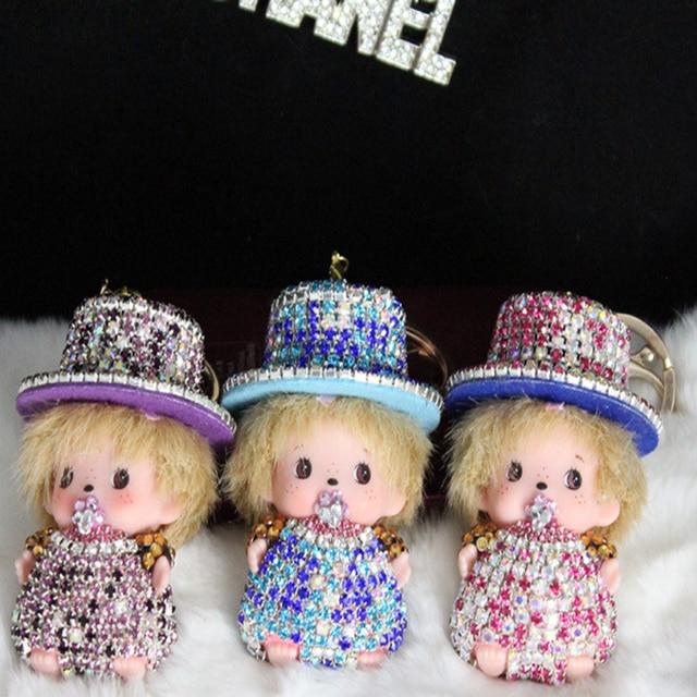 Творческий алмаз милые куклы брелок кулон автомобиль брелок оптовая
