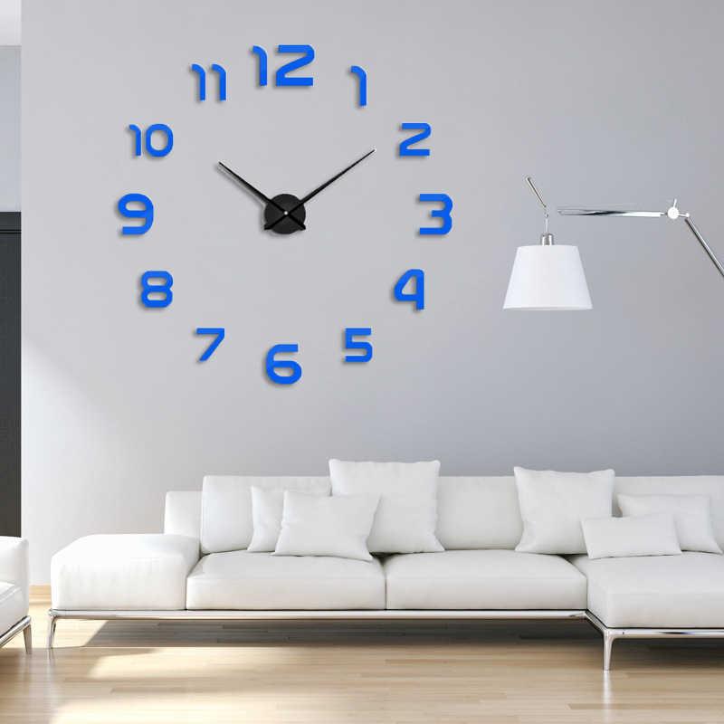 2020 חדש שעון שעון קיר שעון Horloge 3d Diy אקריליק מראה מדבקות עיצוב הבית סלון קוורץ מחט משלוח חינם