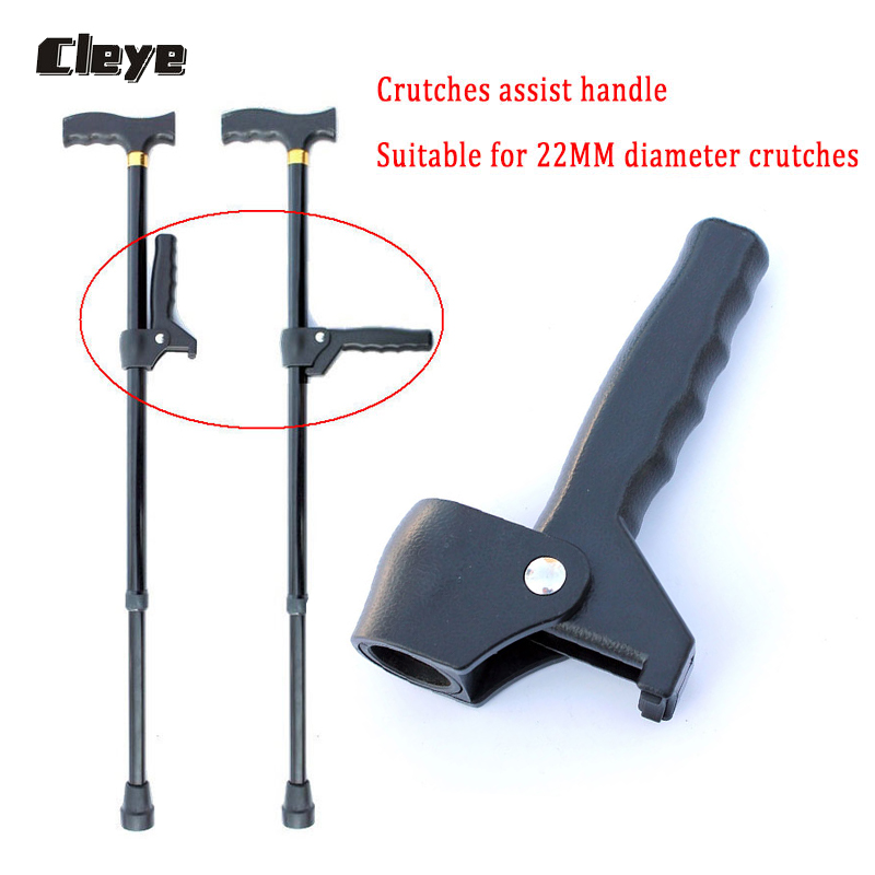 Cleye Old Man Walking Cane Accessories Extra Handle For 22mm Diameter Elderly Booster Walking Stick Auxiliary Handle For Seniors