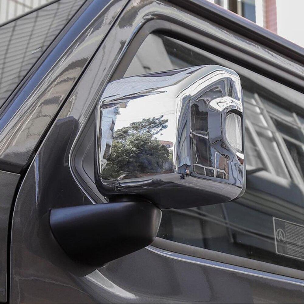 Couvercle de rétroviseur de porte latérale aile rétroviseur autocollant garniture décorative pour jeep jl wrangler 2018 accessoires extérieurs