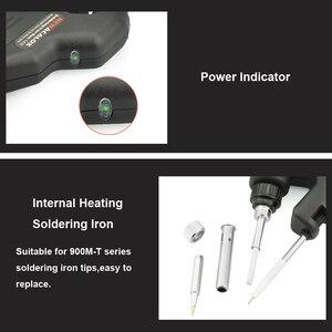 Image 2 - NEWACALOX 50W EU/USไฟฟ้าชุดSolderingเหล็กความร้อนภายในปืนมือถือโดยอัตโนมัติส่งดีบุกเชื่อมสถานีซ่อมเครื่องมือ
