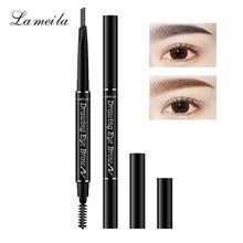 LAMEILA 6 Colors Korean Brown Eyebrow Pencil Microblading Coffee Black Eye Brow Pencils Waterproof Beauty Makeup Tools for Girls