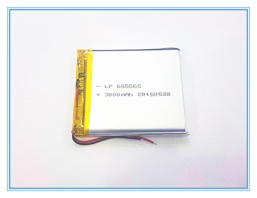 Livraison gratuite 3.7 V, 3000 mAH, [655565] PLIB; polymère au lithium ion/Li-ion batterie pour dvr, GPS, mp3, mp4, téléphone portable, haut-parleur