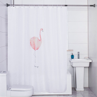 180*200cm Pink Flamingo Polyester Shower Curtain Fabric Constellation Gemini Bathroom Water Proof Curtain with Hook DQ9806 16/27