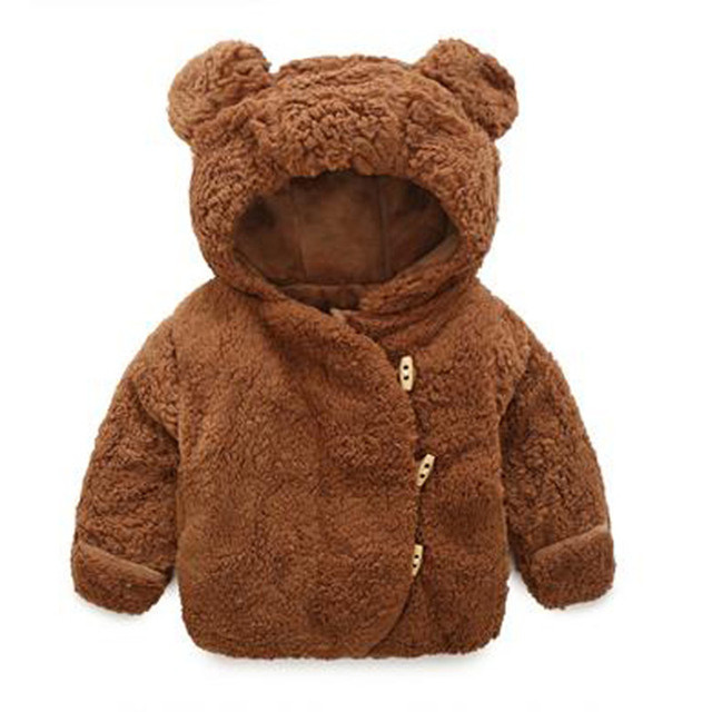 2017 Baby jacket Winter Infant Girls Clothes newborn warm clothing outerwear  hoodie fur thick toddler children boys Snow Coat