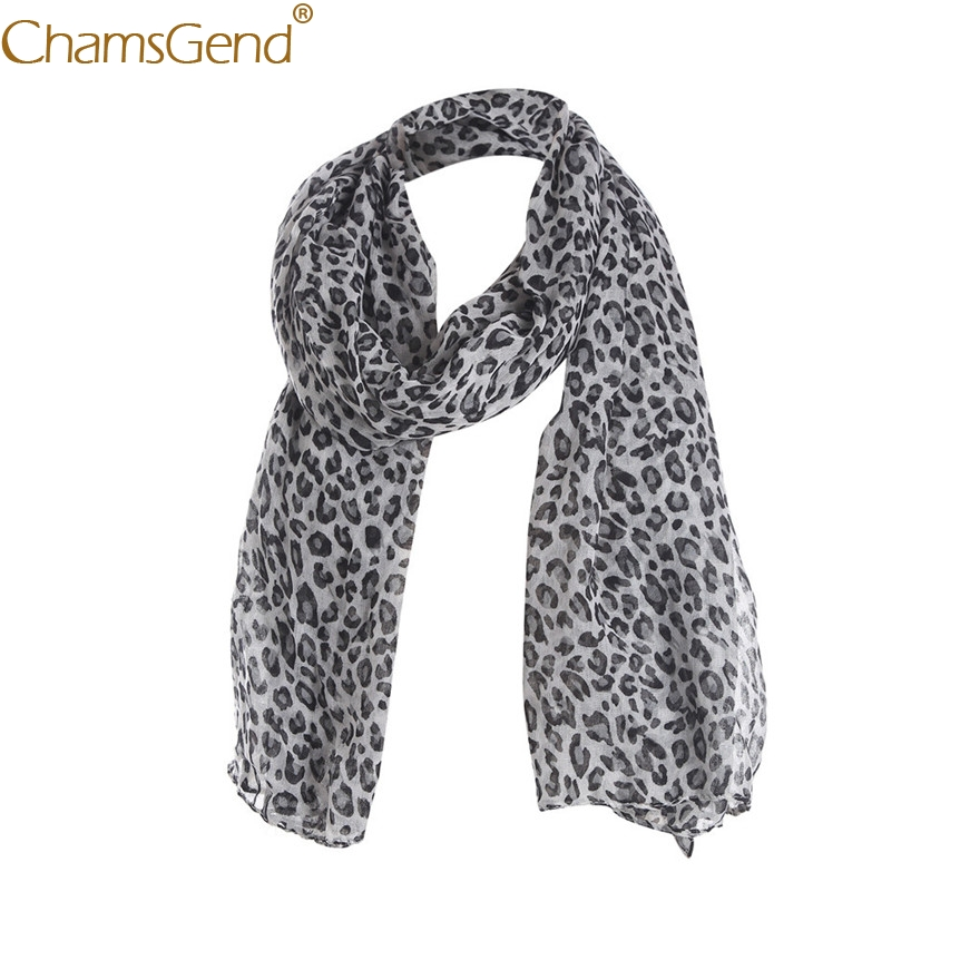 Chamsgend Scarf Women Casual Leopard Print Long Beach Scarves Shawl Stole Pashmina 71106 Drop Shipping