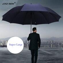 GIBI YAĞMUR Süper Büyük Katlanır Şemsiye Yağmur Kadınlar Rüzgar Geçirmez Güneşli Ve Yağmurlu Paraguas Erkek Çift Tüm Aile Şemsiye UBY28