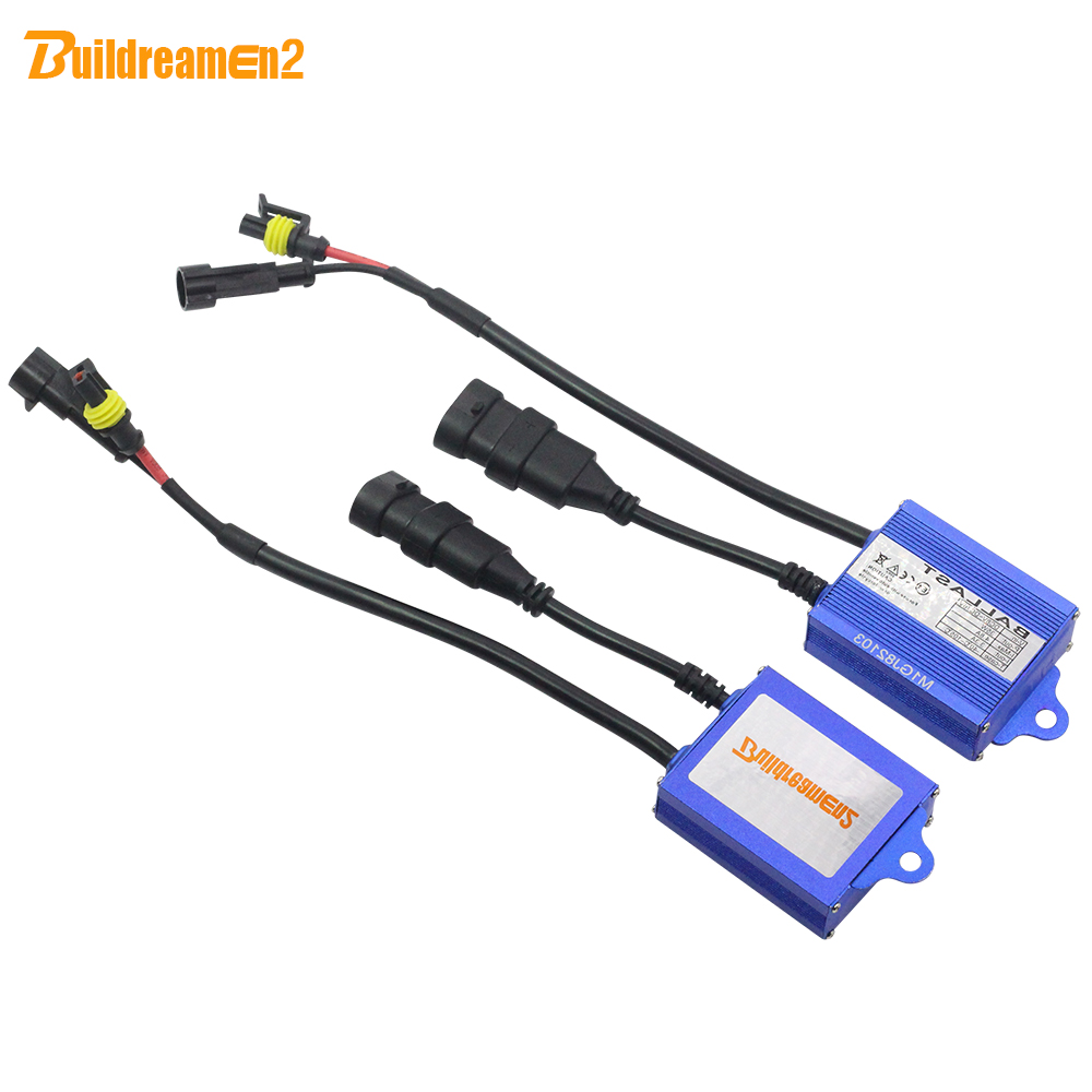 Buildreamen2 35W 12V HID Xenon Ballast Digital Block Ballast Ignition For Car HID Xenon Kit 9005 HB3 9006 HB4 H1 H3 H4 H7 H8 H11 free shipping iphcar car styling hid xenon h1 h7 h11 9004 9005 9006 9007 bulb kit 35w hid light kit with slim ballast