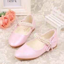 qloblo Дитячі принцеси взуття Мули дитячі сандалики весна бісероплетіння дитячі весільні сандалії сукні взуття партій взуття для дівчаток рожевий білий