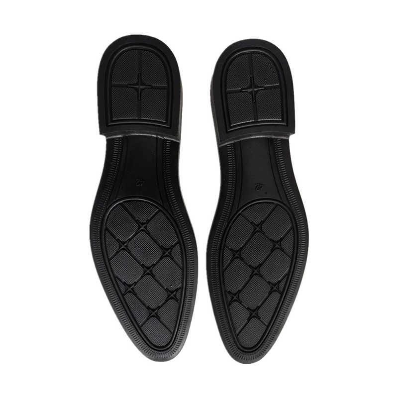 Merkmak รองเท้าผู้ชาย 2019 รองเท้าใหม่มาถึงรองเท้าคุณภาพสูงธุรกิจหนัง LACE-up รองเท้ารองเท้าสำหรับงานแต่งงาน PARTY